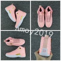 Wholesale canvas shoes size 12 women - 2018 New GS Pink Lemonade 12 Women Basketball Shoes Pink Lemonade 12s Womens Trainers Zapatos Sneakers Size 36-40 Free Shipping
