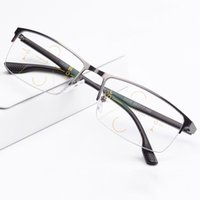 Wholesale progressive lenses glasses - Smart Zoom Asymptotically Multi focal Progressive Bifocal Presbyopic Glasses Titanium Alloy Frame Freeform Progressive Lenses