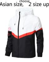 Wholesale sports clothes men online - Brand Designer Jacket Fashion Tide Mens Jacket Coat Letters Printed Luxury Mens Hoodie Casual Sport Outdoor Windbreak Clothing L XL