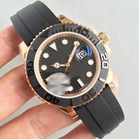 Wholesale master gold watch for sale - Group buy Mens Watch mm Rubber Strap Rose gold Automatic Movement Mechanical Stainless Steel Mens Watches Master Male Wristwatch