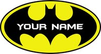 Wholesale personalised packaging - Best Gift Name customed Personalised BATMAN LOGO Decal Removable WALL STICKER Home Decor Art YOUR NAME