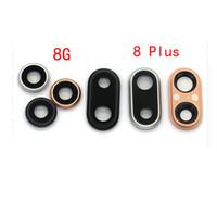 ring hauptleitung großhandel-Rückseite Rückseite Hauptkameraobjektiv Glasdeckelring für iPhone 8 4,7 '' 8 Plus 5,5 '' Ersatzteile
