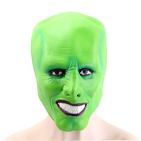 Wholesale green face mask costume resale online - Hanzi_masks Halloween The Jim Carrey Movies Mask Cosplay Green Mask Costume Adult Fancy Dress Face Halloween Masquerade Party Mask
