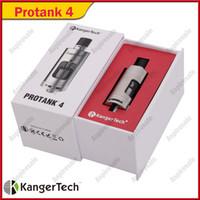 kit de protecção original kanger venda por atacado-Kanger Protank 4 atomizador KangerTech Pro tanque Clearomizer Clearomizer 4 Pyrex Caixa De Presente De Vidro Clearomizer para kits E-Cigarro 100% Original