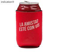 Wholesale Stubby Holders - RED COLOUR Custom Printed Stubby Holders Can Coolers Wholesale 500pcs lot