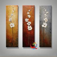 abstrakte blumen-ölgemälde großhandel-3D Reine Hand Zeichnung Ölgemälde Dekorieren Abstrakte Leinwand Gemälde Kein Rahmen Landschaft Wand Bilder Kunstwerk Romantische 148qy2 ff
