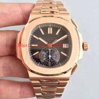 c assistir venda por atacado-Melhor relógios de pulso BP fábrica 40.5 mm Nautilus 5980 / 1R-001 18k Rose Gold suíço CAL.9015 CH 28-520 C movimento automático Mens Watch Watches