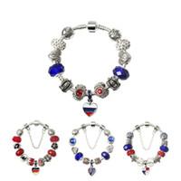 chamilia jewelry großhandel-Weltmeisterschaft Neueste Beliebte Charme Armbänder Chamilia Perlen Für Frauen Original DIY Schmuck Dekoration Fit Weltmeisterschaft Flag Armband