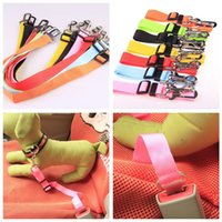 Wholesale dog collar for cars online - 2018 Fashionable Pets Dogs Car Safety Seat Belt Colorful Puppy Collars For Outdoor High Quality Pet Supplies Factory Direct Sale rq XY