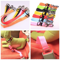 Wholesale Car Sales Supplies - 2018 Fashionable Pets Dogs Car Seat Belt Colorful Pet Dog Collars For Outdoor High Quality Pet Supplies Factory Direct Sale 1 9rq X