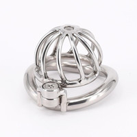 Wholesale chastity cage curve online - SODANDY Chastity Devices Male Small Penis Lock Stainless Steel Chastity Belt Metal Cock Cage For Men With Curved Penis Rings
