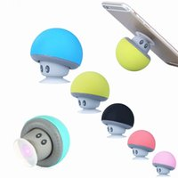 Wholesale bluetooth speaker waterproof silicone resale online - Mini Murshroom Bluetooth Speaker Portable Wireless Bluetooth Subwoof With Waterproof Silicone Sucker For phone MP3 Tablet PC With Retail Box