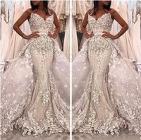 Wholesale adorn wedding dress resale online - Bridal Gowns Luxurious Sweetheart Mermaid Detachable Train Wedding Dresses Beaded With D Floral Adorned Custom Garden Middle East