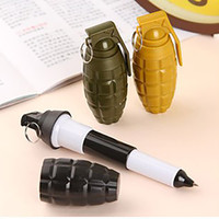 Wholesale grenade gift for sale - Group buy Hand Grenade Ballpoint Pen Novelty Telescopic Ballpen Stationery Gift Office Accessories School Supplies Free DHL