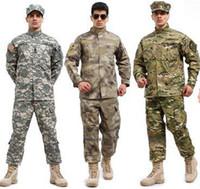 équipement de vêtements de plein air achat en gros de-Uniforme de formation de combat tactique en plein air Uniforme Ensembles Costume de chemise A-TACS FG Multicam ACU Vêtements de vêtements d'armée