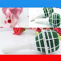 аксессуары для цветов из пенопласта оптовых-Свадьба поставляет цветочные сосуд с грязью невесты цветок букет пены держатель аксессуары упаковочный материал высокое качество 1 35ll Ww