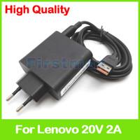 lenovo tablet ladegerät großhandel-20V 2A 5.2V 2A USB Wechselstrom-Adapter für Lenovo Yoga 3 14 Tablette PC-Aufladeeinheit ADL40WCD 36200563 36200564 ADL40WCE ADL40WCF 36200565