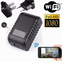 wifi chargeurs d'expédition achat en gros de-1080p WiFi Mini caméra IP intérieure USB chargeur mural Cam / Moniteur pour bébé / Cam Nanny avec détection de mouvement, Vision nocturne Drop shipping