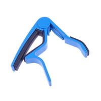 klemmen für gitarre großhandel-Großhandel 5X Blue Guitar Capo Trigger K-Stil Schnellwechselschlüssel Clamp Akustische Elektrische Folk