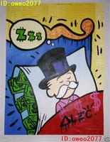 Wholesale Framed Art Ideas - Alec monopoly graffiti Art Sleeping Idea ,Portrait MODERN ABSTRACT LARGE ART OIL PAINTING WALL DECOR CANVAS FRAMED STRETCH FRAMED