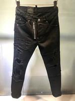 Wholesale cheap rip jeans online - Famous Brand Pierre Rock Biker Jeans Men  Ripped Denim Tearing 30c4818ee199