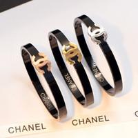 ingrosso prezzi elevati-Orologi di marca di lusso Bracciale stile polsino di alta qualità in acciaio inossidabile Mens gioielli Fashion Party bracciali per le donne uomini PREZZO DI FABBRICA