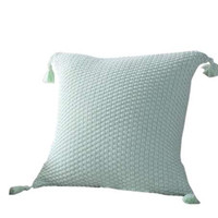 cas de gland achat en gros de-Style nordique tricot gland taie d'oreiller fibres acryliques taie d'oreiller oreillers décoratifs pour canapé siège housse de coussin décor à la maison