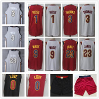 Wholesale Men Land - 2018 New City Edition The Land Gray #23 James Jersey Black White Red Kevin Love Derrick Rose Isaiah Thomas Dwyane Wade Jerseys Shorts