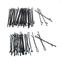 Wholesale invisible hairpin - 120PCS Hair Accessories Hair Clips for Women Ladies Pins Invisible Curly Wavy Grips Salon Barrette Hairpin Black Barrette