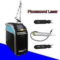 remoção da pele do laser venda por atacado-pico laser qswitch nd yag laser tattoo remover manchas escuras da pele sarda picossura remover Honeycomb Laser 755 máquina de remoção de manchas
