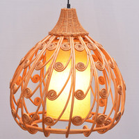 Wholesale asian countries for sale - Group buy South Asian Rattan Dining Room Ceiling Pendant Lamp Hand Made Japanese Restaurant Pendant Lights Country Rustic Hanging Lamps