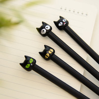 Wholesale cartoon stationery office school writing supplies resale online - Cute Kawaii Black Cat Gel Pen Cartoon Plastic Gel Pens For Writing Office School Supplies Korean Stationery