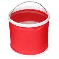 Wholesale waterproof tackle bags resale online - 9L L Waterproof Water Bags Fishing Folding Bucket Portable Bucket Water Container Storage Carrier Bag