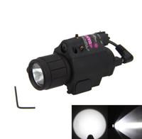 ingrosso pistola laser led-2in1 Combo Tactical CREE Q5 LED Torcia / LIGHT 200LM + Verde Laser Sight Per pistola / pistola Pistola for17 19 22 20 23 31 37
