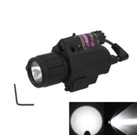 лазерный светодиодный пистолет оптовых-Combo Tactical CREE Q5 светодиодный фонарик / LIGHT 200LM + красный лазерный прицел для пистолета / ружья Пистолет for17 22 20 19 23 31 37