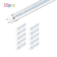 Wholesale epistar led tube t8 18w - Stock in US -10 Pack T8 LED Tube Lights 18W SMD2835 Clear Milky Cover 4 Feets Led Fluorescent Bulbs 1200mm 100V-277V CE RoHS