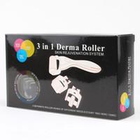 Wholesale dermaroller system for sale - Group buy 3 in Derma Roller Skin Rejuvenation System Micro Needle Roller C C C Needles Face Body Skin DermaRoller