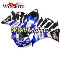 ingrosso yamaha yzf custom-Motociclette su misura Kit completo per carenatura nero blu lucido per Yamaha YZF1000 R1 YZF 1000 2009 2010 2011 Carrozzerie per carrozzeria Carrozzerie per carrozzeria
