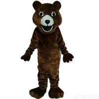 ingrosso i vestiti delle immagini del fumetto-Vestito operato dal fumetto della mascotte del costume della mascotte dell'orso bruno Immagine reale di alta qualità che spedice liberamente