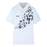 Wholesale butterfly clothing online - Large yard M XL Homme Shirts Luxury Butterfly Designer Formal Shirts Men Summer Top Clothes
