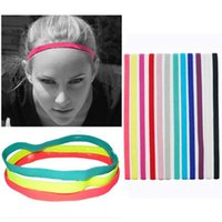 Wholesale Popular Soccer - 2018 popular elastic rope Candy-colored sports yoga Headband hair hoop running Headband soccer non-slip hair accessories 0205040