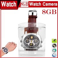 Wholesale fashion cameras - Newest fashion waterproof Watch Pinhole Camera 720*480 8GB 16GB Wrist Watch MINI DV DVR Sport Watch Camera
