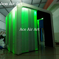 Wholesale Photo Booth Tent - top quality new style 16 colorful changing inflatable lighting bar tent inflatable wedding photo booth with free air blower