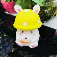 Wholesale mushroom sports online - Interesting Squishy Simulation Cartoon Mushroom Head Slow Rebound Decompression Toy Soft Emulation Rabbit Doll PU Squishies ys W