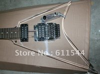Wholesale transparent v string - New Arrival Transparent Jackson Flying V Electric Guitar HIgh Quality Free Shipping Wholesale2018