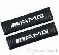 Wholesale Carbon Fiber Seat Belt Cover Pad Shoulder Pad Fit For FORD KIA MINI MOMO AMG ST STI VOLVO LAND ROVER Car Styling