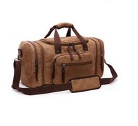 hand bag straps UK - Duffle bag travel bags hand luggage luxury shoulder strap travel bag men canvas handbags large cross body bag sac totes for boys mens
