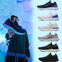 Wholesale foam cushions - Newest Epic React Running Shoes Fly Knitting Upper Vamp Sport Boost Mens Women Running Shoes Soft Foam Design Cushioning Athletic Sneakers