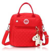 ingrosso borse della madre del bambino-Fashion Nylon Multifunzione Borse Messenger Bag Backpack Mommy Prodotti per neonati Shoulder Mother Package Baby Tassen Voor Mama
