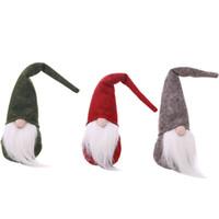 os presentes sew para o natal venda por atacado-Decoração de natal velho boneca boneca pequena boneca sem rosto presente de Natal de costura brinquedo de pelúcia crianças criativas
